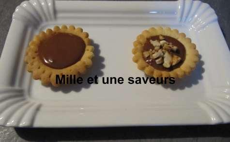 Tartelette caramel beurre salé et chocolat au lait