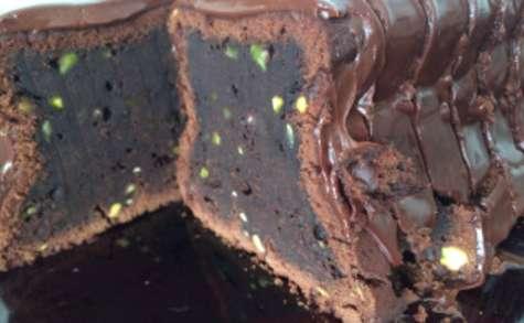 Cake au chocolat et à la pâte d'amandes