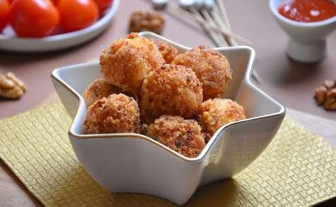Mozzarella panée au chorizo et aux noix