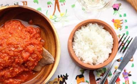 Langue de veau sauce tomate épicée, comme à Madagascar