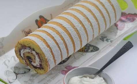 Biscuit roulé à la confiture de mûre, chantilly mascarpone
