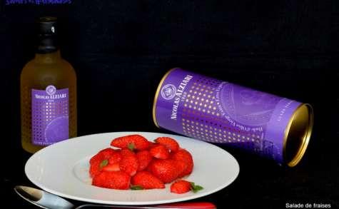 Salade de fraises à l'huile d'olive