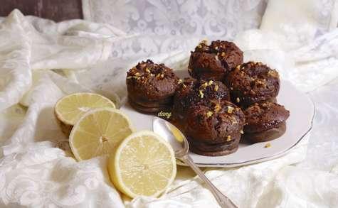 Fondants au chocolat et limoncello coeur lemon curd