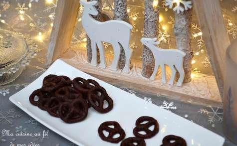 Petits bretzels au chocolat noir