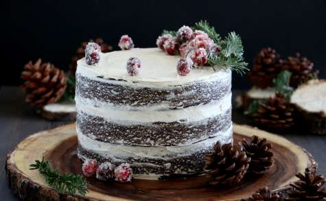 Gingerbread naked cake au caramel