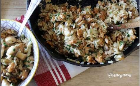 Poêlée de riz sauté