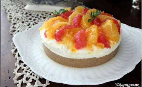 Cheesecake sans cuisson au lait concentré sucré aux agrumes