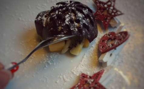 Coques au chocolat aux fruits exotiques