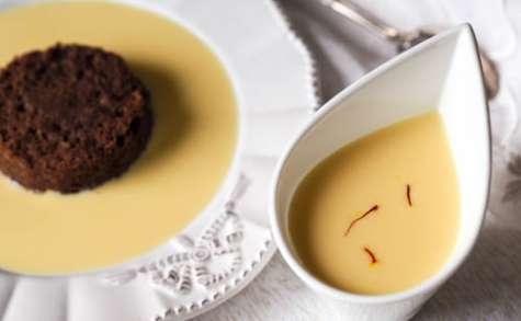 Crème anglaise au safran