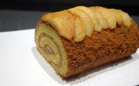 Gâteau roulé pommes speculoos