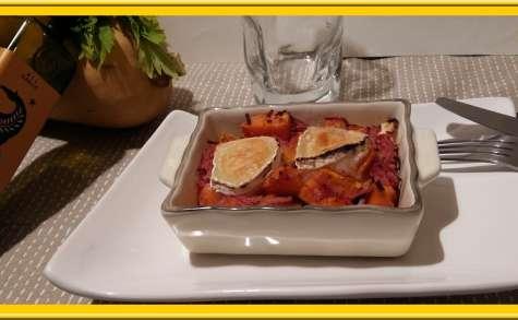Légumes d'Automne rôtis au fromage de chèvre