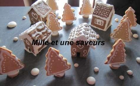 Petit village miniature en sablé pain d'épice