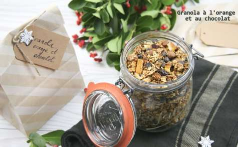 Granola orange et chocolat