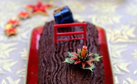 Bûche pâtissière à la vanille et chocolat