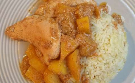 Curry de poulet aux mangues