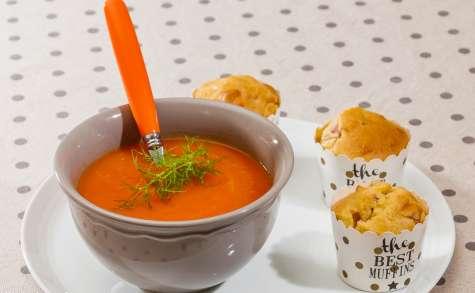 Soupe carottes à l'orange et au miel