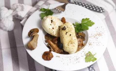 Boudins de poulet et sauce truffée