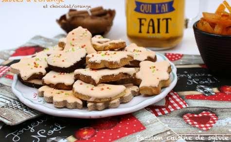 Sablés de Noël à l'orange, orange / chocolat ou noisette / pralin