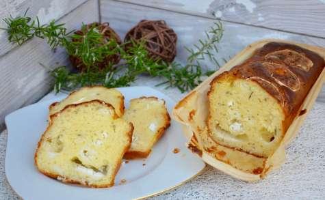 Cake chèvre, miel et romarin