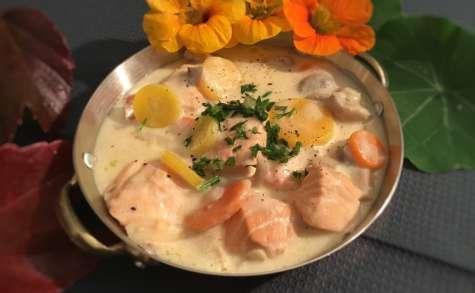 Délicieuse blanquette de saumon