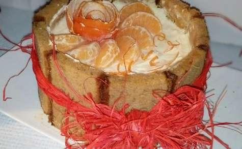Tiramisu glacé mandarines pain d'épices comme un gâteau