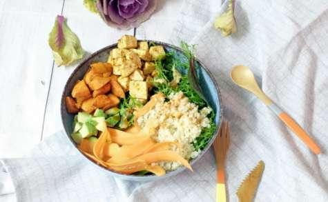 Buddha bowl tout en carottes