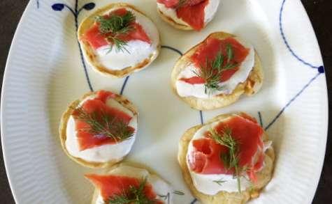 Blinis au saumon sauvage fumé