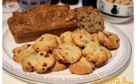Cookies salé lardons parmesan