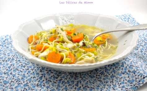 Soupe réconfortante de poulet aux nouilles