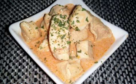 Blanc de poulet mascarpone et tomates