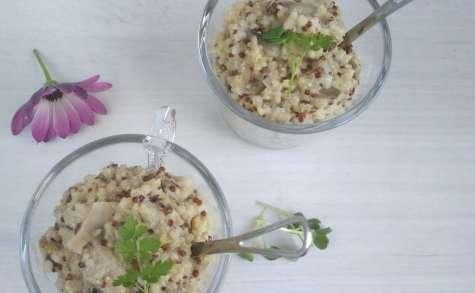 One pot quinoa aux champignons