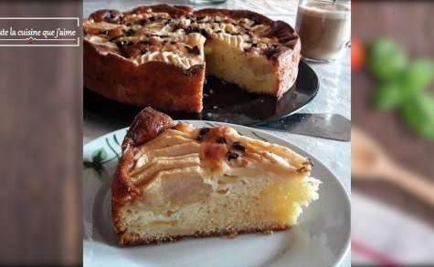 Gâteau aux pommes et pépites de chocolat