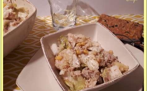 Salade endives-pommes de terre et thon