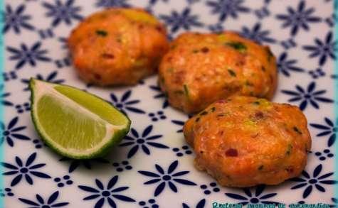 Croquettes de saumon aux deux coriandres