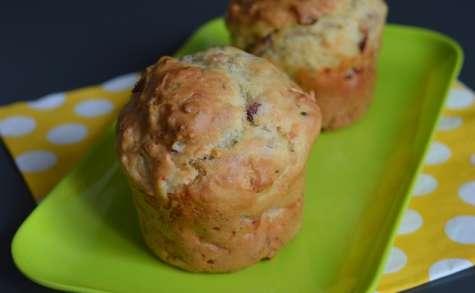 Muffins aux oignons et aux lardons allumettes