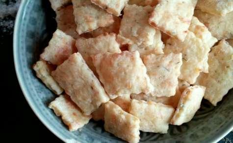 Crackers au fromage thym et fleur de sel
