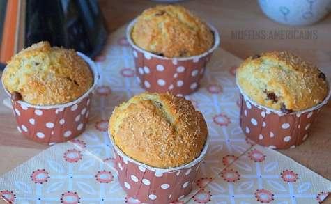 Muffins à la noix de coco chocolat facile
