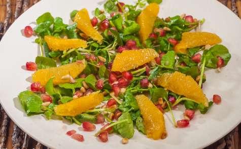 Salade de cresson, orange et grenade