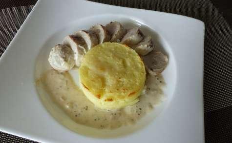 Boudin blanc sauce moutarde