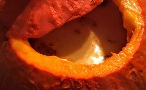 Soupe de potimarron à l'écume de lard