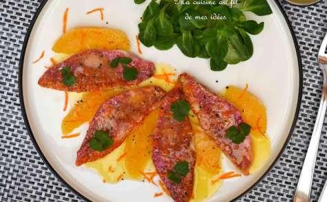 Filets de rouget de roche au beurre d'agrumes