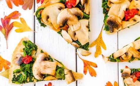 Pizza vegan aux légumes d'hiver