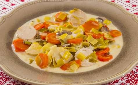 Blanquette de boudins blancs aux légumes