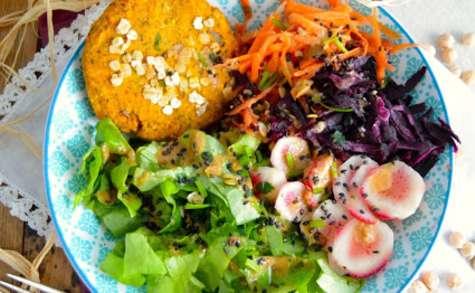 Steak végétal aux pois-chiche et patate douce