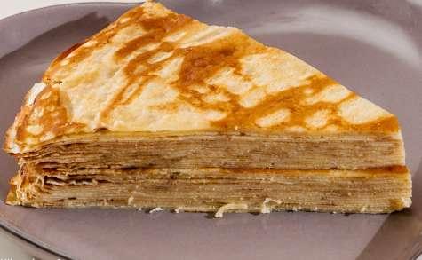 Gâteau de crêpes beurre sucre