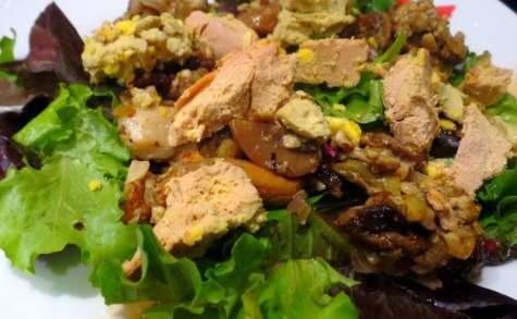 Salade de foie gras, girolles et fèves