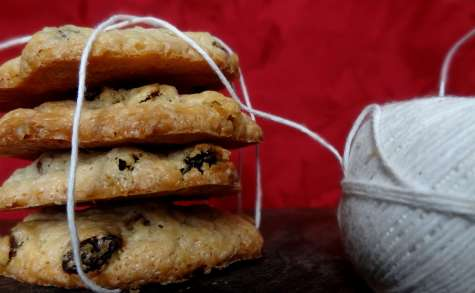 Biscuits crème fraîche raisins secs