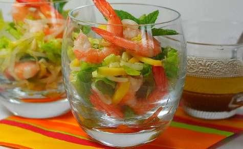 Salade Thaï mangue et crevettes