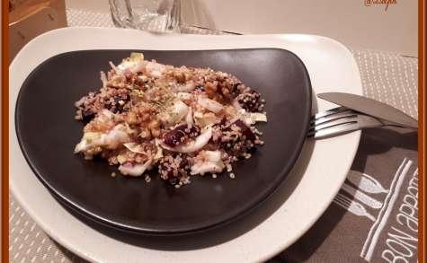 Salade de quinoa, betterave rouge et endive