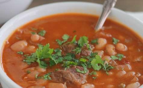 Loubia algérienne (soupe de haricots blancs)